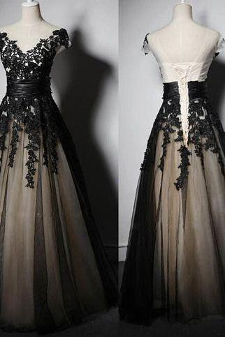 Charming Prom Dress,Chiffon Prom Dresses,V-Neck Prom Dress,A-Line Evening Dress
