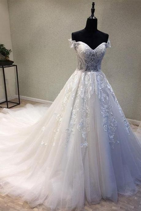 Tulle Wedding Dress,Wedding Dresses,Lace Bridal Dresses Formal Dress