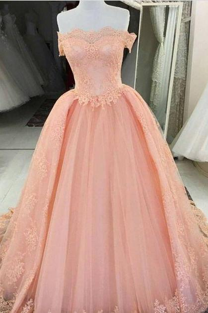 Off the Shoulder Prom Dress, with Overskirt Prom Dresses, Long Evening Dress