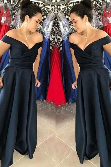 Off the Shoulder Prom Dress,Formal Occasion Dress,Prom Dresses,Long Evening dresses