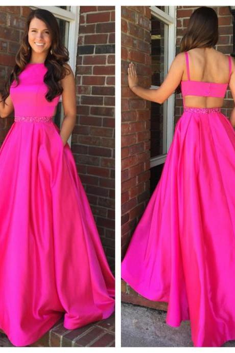 Keyhole Back Prom Dress,Prom Dresses,Long Evening dresses