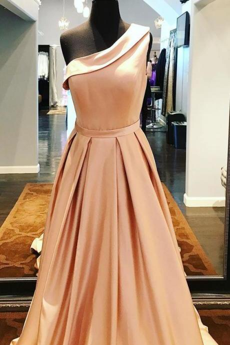 A-line One Shoulder Prom Dress,Prom Dresses, Formal Prom Gown, evening dresses, Quinceanera Dresses