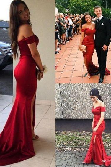 Wine Red Prom Dresses,Mermaid Prom Dress,Satin Prom Dress,Prom Dresses,Formal Gown,Evening Gowns,Party Dress,Mermaid Prom Gown For Teens
