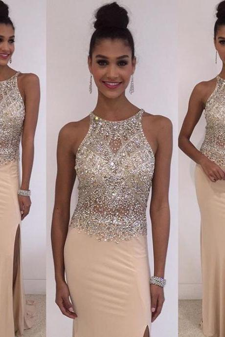 Sexy Prom Dresses,Mermaid Prom Dresses,Beaded Prom Dresses,Champagne Prom Dresses,Split Prom Dresses,Evening Dresses,Party Dresses