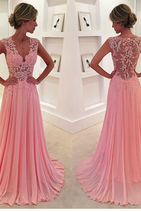 Pink Evening Dresses,Chiffon Prom Dress,Chiffon Prom Dresses,Simple Prom Dress,Tulle Prom Dress,Simple Evening Gowns,Cheap Party Dress,Elegant Prom Dresses, Formal Gowns For Teens