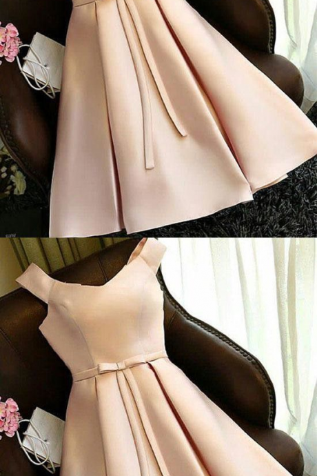 Simple champagne homecoming dress,satin short prom homecoming dress,Fashion Prom Dress,Sexy Party Dress, New Style Evening Dress