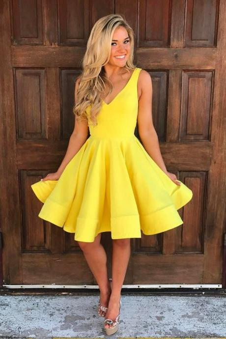 Yellow Homecoming Dress