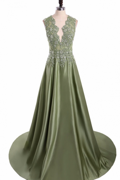 lace in the elaborate foyer and a long dress with a long, sleeveless skirt prom dress ,women's formal evening gown