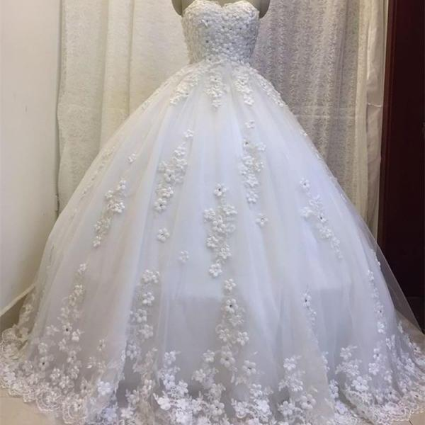 wedding dress,handmade flower wedding dresses ball gown floor length bride dress