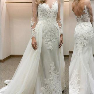 Charming Wedding Dress,Long Sleeve Lace Wedding Dresses,Sexy Mermaid Wedding Gown, Bridal Dresses