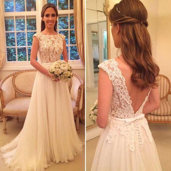 Lace Wedding Dress,Backless Wedding Dresses,Elegant Wedding Party Dress