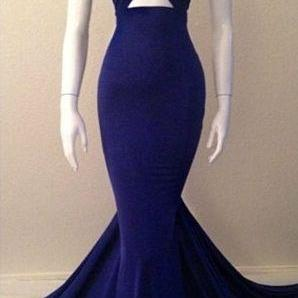 Real Sexy Long Mermaid Prom Dresses,Simple Cheap Prom Gowns,Handmade Halter Sheath Prom Dress