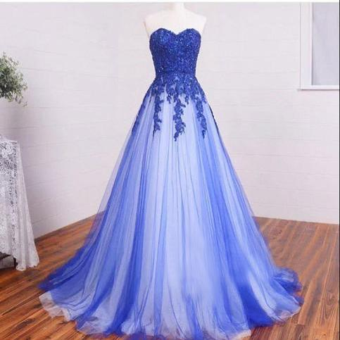 Long Sweetheart Lace Beading Prom Dresses,High Low Elegant Prom Dress,Modest Prom Gowns