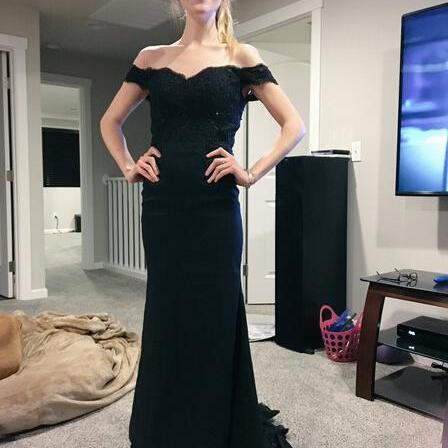 Off the shoulder Custom Made Prom Dresses, Floor-Length Evening Dress,Prom Dresses
