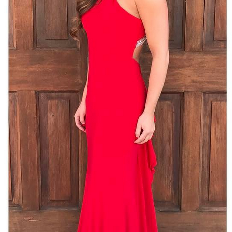 Dark Red Velvet Mermaid Side Slit Simple Long Prom Dresses,Evening Gowns