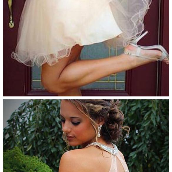 Two Piece Tulle Beading Prom Dresses, Homecoming Dresses ,Homecoming Dress